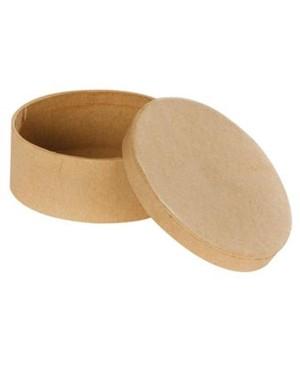 Kartoninė kraft dėžutė, ovali 9,5 x 7,5 x 4 cm