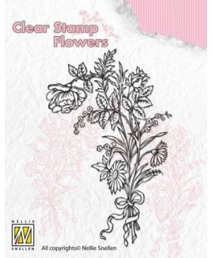 """Silkono antspaudas FLO006 """"Laukinių gėlių puokštė 1"""""""