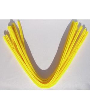 Šenilo vielos strypeliai 9mm storio, ilgis 50cm, 10vnt., geltoni