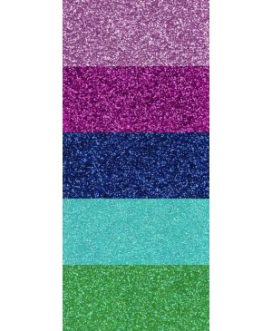 Popierius dekoratyvinis su blizgučiais A4, 210 g/m², įvairių spalvų rinkinys., 5vnt.