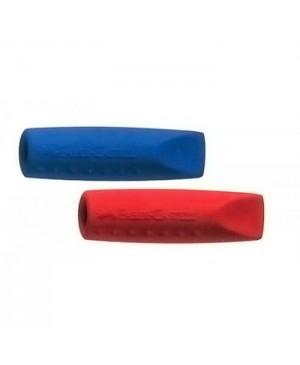 Trintukas - kamštelis Faber Castell Grip 2001, raudonos ir mėlynos sp., 2 vnt. pakuotėje