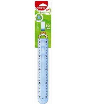 Liniuotė Maped Greenlogic 30 cm su laikikliu, dvipusė, kabinamoje pakuotėje