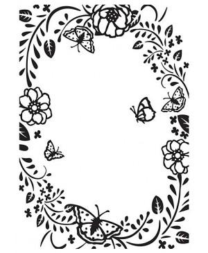 Reljefavimo formelė HSF016 Flower Frame