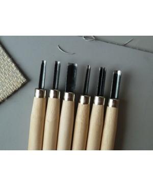 Linoleumo raižiklis V formos, mažas, su koteliu