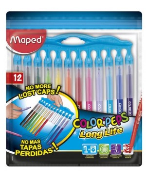 Flomasteriai Maped Color Peps Long Life Inno 12 spalvų