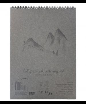 Kaligrafijos ir dailyraščio bloknotas A4, 100 g/m², 50 lapų