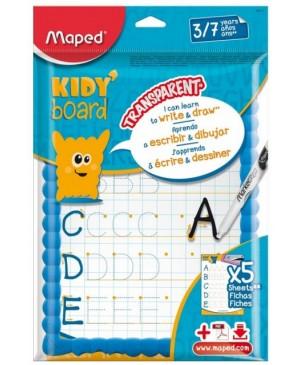 Rašymo lenta Maped Kidy Board su rašikliu, šluoste ir 5 šablonais