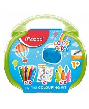 Piešimo priemonių rinkinys nuo 1 metų Maped Color Peps Box