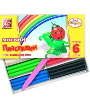 Plastilinas vaško pagrindu LUČ Kroha 6 spalvų