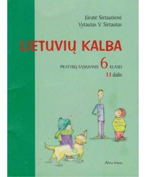 Lietuvių kalba. VI kl. pratybų sąs. 2 dalis