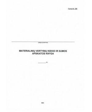 Materialinių vertybių kiekio ir sumos apskaitos knyga 48 l.