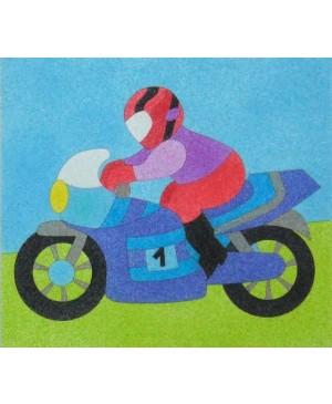 Eskizas smėlio tapybai Motociklininkas 20x18cm