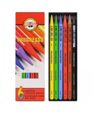 Spalvotų pieštukų rinkinys Progresso Koh-I-Noor, 6 spalvos