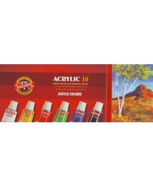 Akrilo dažų rinkinys Koh-I-Noor Acrilyc 10