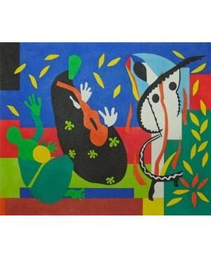 Eskizas smėlio tapybai 38x46cm, Karaliaus širdgėla, Henri Matisse