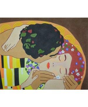 Eskizas smėlio tapybai 38x46cm, Bučinys, Gustav Klimt