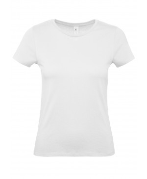 Moteriški marškinėliai B&C 190, baltos spalvos