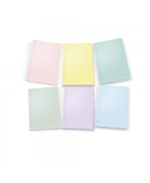 Sąsiuvinis Pigna Monocromo Pastel A4, 40 lapų 80 g/m², langeliais