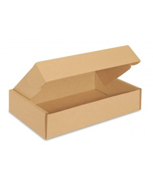 Gofruoto kartono greito uždarymo dėžė, 216x148x38 mm