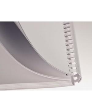 Plastikinė įrišimo spiralė baltos spalvos 14 mm