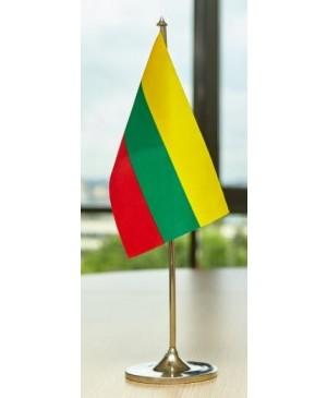Spausta protokolinė Lietuvos vėliavėlė 12 x 20 cm, be stovelio