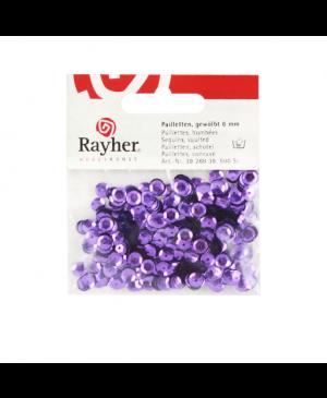 Žvyneliai, violetiniai, išgaubti, 6mm, 500vnt