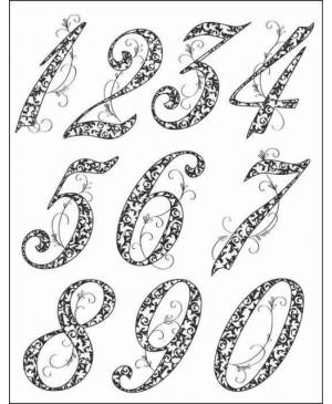 Silikono antspaudų rinkinys Jubiliejiniai skaičiai, 14x18 cm