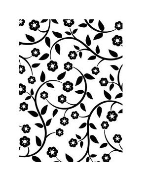 "Reljefavimo formelė ""Floral Vines"", 10.8x14.6cm"