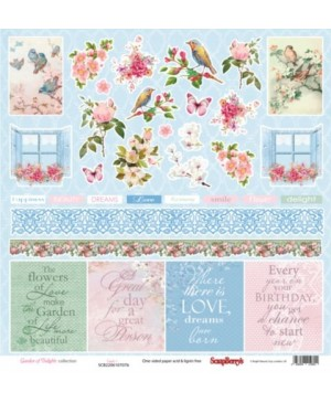 Skrebinimo popierius Garden Of Delights - Cards 1, 30.5x30.5cm, 190g/m2, 1vnt.