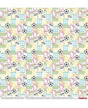 Skrebinimo popierius Football Star - Game Time, 30.5x30.5cm, 190 g/m², 1vnt.
