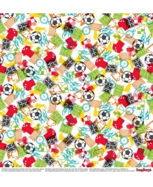 Skrebinimo popierius Football Star - Goal, 30.5x30.5cm, 190 g/m², 1vnt.