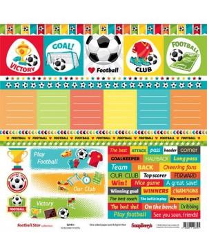 Skrebinimo popierius Football Star - Cards 1, 30.5x30.5cm, 190 g/m², 1vnt.