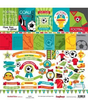Skrebinimo popierius Football Star - Cards 2, 30.5x30.5cm, 190 g/m², 1vnt.