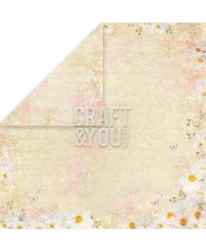 Skrebinimo popierius Spring Garden 02, 200g/m2, 30.5x30.5cm, 1vnt.