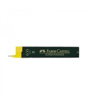 Grafito šerdelės Faber Castell automatiniam pieštukui, B, diam. 0.35 mm, ilgis 60mm, 12 vnt. dėžutėje