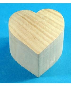 Dėžutė medinė Širdis 6,2 x 6,2 x 5,4 cm
