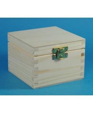 Dėžutė kvadratinė su užsegimu 14 x 14 x 8 cm