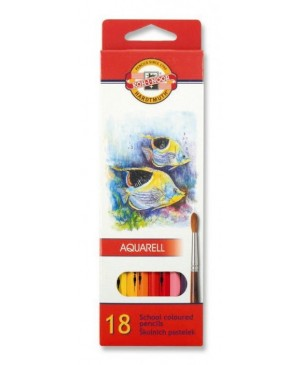 Akvareliniai pieštukai Koh-I-Noor 18 spalvų
