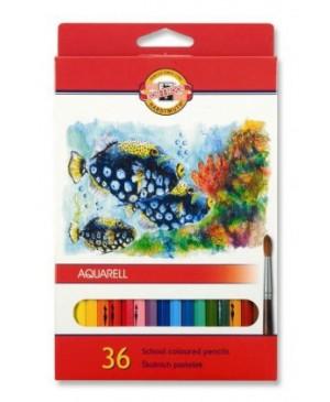 Akvareliniai pieštukai Koh-I-Noor 36 spalvų