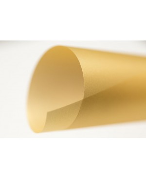 Spalvotas permatomas popierius Curious Translucent, Gold, 100 g/m², A4, 1 lapas