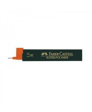 Grafito šerdelės Faber Castell automatiniam pieštukui, B, diam. 1.0 mm, ilgis 60mm, 12 vnt. dėžutėje