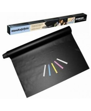 Lipni juoda plėvelė rašymui kreida, 45x100cm