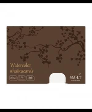 Piešimo kortelės Haikucards dėžutėje, 106.5x147mm, 260g/m², 24vnt., akvarelinio popieriaus