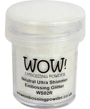 Reljefavimo pudra WOW! 15ml WS02R Neutral Ultra Shimmer Embossing Glitter