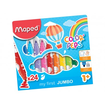 Flomasteriai Maped Color Peps My first 12 spalvų