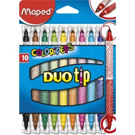 Flomasteriai Maped Color Peps Long Life Duo Tip 10 spalvų