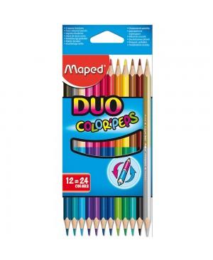 Spalvoti pieštukai Maped Color Peps DUO 12 vnt 24 spalvos