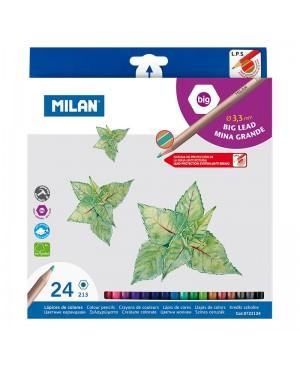 Spalvoti pieštukai Milan Big Lead 24 spalvų