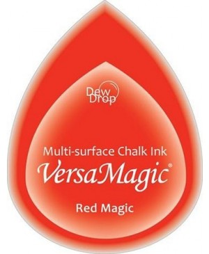 Rašalo pagalvėlė VersaMagic Dew Drop Red Magic raudona