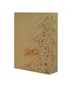 Kartoninė dėžutė Eco - Eglutė žalia, 36x26x9cm